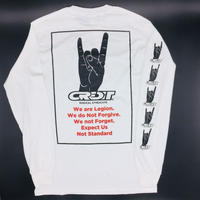 "CREDIT ""Hand Sign"" RADICAL SYNDICATE   L/S TEE ・White"