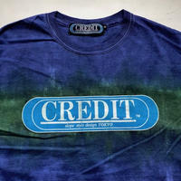 CREDIT タイダイ手染め ORIGINAL LOGO・INDIGO × GREEN