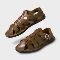 PHIGVEL MAKERS & Co. PMAJ-SH02 GURKHA SANDAL ‐OLIVE‐