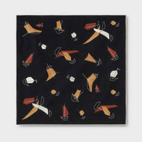 PHIGVEL‐MAKERS Co.-Atomic Pattern Handkerchief-(InkBlack)