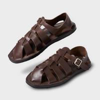 PHIGVEL MAKERS & Co. PMAJ-SH02 GURKHA SANDAL ‐BROWN‐