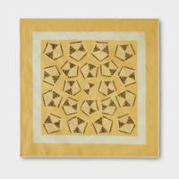 PHIGVEL‐MAKERS Co.African Pattern Handkerchief -Yellow‐