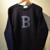 BONCOURA Bセーター ネイビー×ブルー