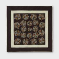 PHIGVEL‐MAKERS Co.African Pattern Handkerchief -PurpleBrown-