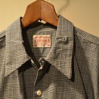 boncoura ワンナップシャツ インディゴグレンチェック