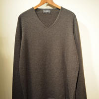 -seldom- V‐neck sweater ‐BROWN‐