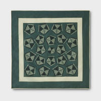 PHIGVEL‐MAKERS Co.African Pattern Handkerchief -FrenchKhaki‐