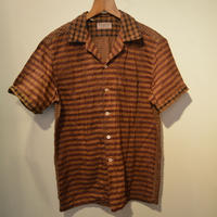 Kennethfield -S/S OPEN COLLAR SHIRT-(KAKISHIBU)