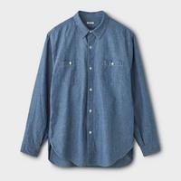 PHIGVEL‐MAKERS Co. C/L Chambray Shirt (FADEINDIGO)