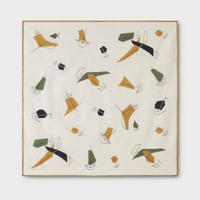 PHIGVEL‐MAKERS Co.-Atomic Pattern Handkerchief-(Ivory)