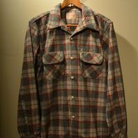boncoura  ネル開襟シャツ (ワンナップシャツ) グレー