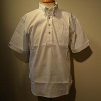 boncoura 2019ss コードレーン・半袖プルオーバーBDシャツ(ホワイト)