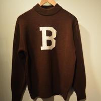 boncoura 2019AWモックネックBセーター(BROWN)