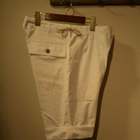 kenneth field -TURN UP SHORTS- LIPSTOP WHITE