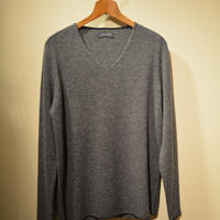 -seldom- V‐neck sweater ‐GRAY‐