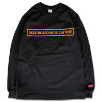 "CREIGHT ""SKATEBOARDING IS CULTURE L/S TEE"" / BLACK"