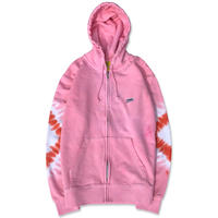 "D.Y.E×CREIGHT ""ONE OF A KIND Tie-Dye ZIP Hoodie""/L"