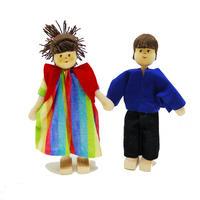 クレーブス人形 お父さん/ジーンズ お母さん/赤ベスト【単品販売】