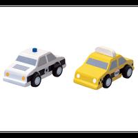 タクシーとパトカー