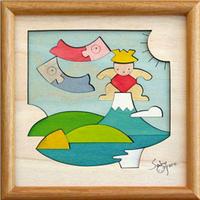 富士乗りかぶと 組み木絵 KP189