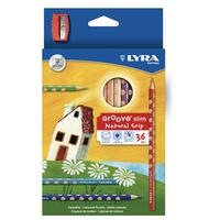 LYRA グルーヴスリム 36色セット(シャープナー付)