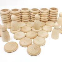Nins®リング&コイン 白木 (Nins®,rings & coins Natural Wood) 15-102C