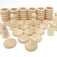 15-102C Nins®リング&コイン 白木 (Nins®,rings & coins Natural Wood)
