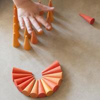 19-206 まんだら オレンジコーン (Mandala Orange Cone)