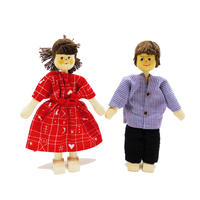 クレーブス人形 お父さん/シャツ格子 お母さん/赤ワンピース【単品販売】