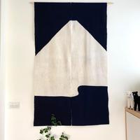 山内武志 型染め暖簾 富士山 紺×白