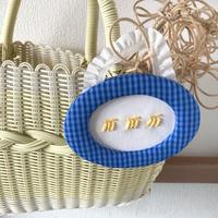 藤色     ぷっくりフルーツの額飾り(小)/  バナナ × あお