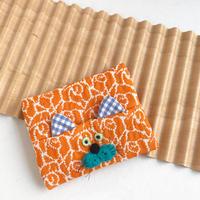 くにはら ゆきこ  |  ポケットティッシュケース / オレンジ猫