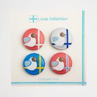 Lines Collection ハンドメイド マグネット 4個セット