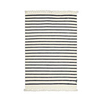 Tikau 手織りラグ:Marine