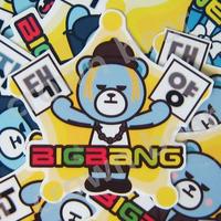 BIGBANG オリジナルYGベア ハングル名前入り耐水シール SOL ver.