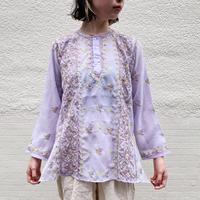 インドお花刺繍シースルーチュニック[9308]
