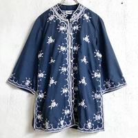 VINTAGE「Chuchi」フィリピン刺繍ジャケット(NAVY)[7169]