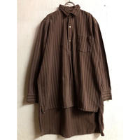 1950〜60'S EURO WORK VINTAGEグランパシャツ (BROWN) [7333]