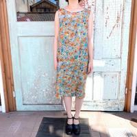 1950's Vintage Silk Flower Print Tube Dress[1012]