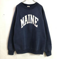 MADE IN USA「FRUITS OF THE LOOM」カレッジスウェット(NAVY)[7184]