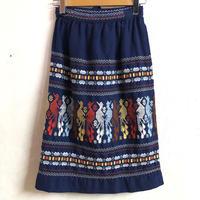 グアテマラ刺繍ラップスカート (BLUE) [7276]