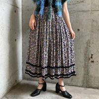 EURO vintage 花柄レーヨン ボリュームチロルスカート [9668]