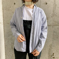 Ralph Lauren ロゴ刺繍ストライプ柄コットンシャツ [7544]