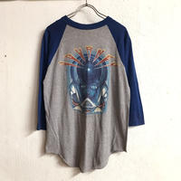 "1980'S VINTAGE JOURNEY ""FRONTIRS WORLD TOUR 1983"" バンドTシャツ(GRAY × BLUE)[7111]"