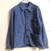 FRANCE WORK VINTAGE モールスキンカバーオール(BLUE)[7344]