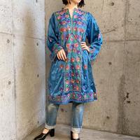 1970's vintage パキスタンバロチ お花&ビーズ刺繍 ドレス[9350]