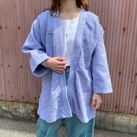 vintage 刺し子 道着 コットンガウン (purple overdyed) [8709]