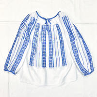 ヴィンテージ ルーマニア刺繍チュニック(WHITE)[7019]