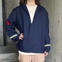 French military vintage ウール セーラーシャツ[8547]