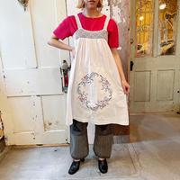 1940〜50's vintage  ボタニカル刺繍入り リメイク クロシェ ワンピース [8771]